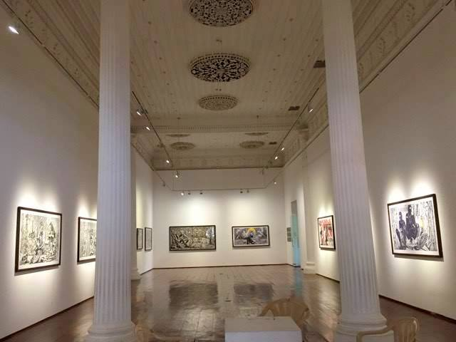 Jayesh K K's Exhibition of Wood Cut / Lino Prints at Durbar Hall